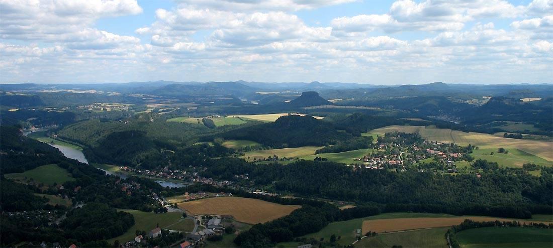 Blick über die Vordere Sächsische Schweiz