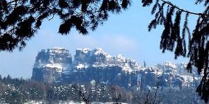 Blick von der Kleinen Bastei in die Schrammsteine