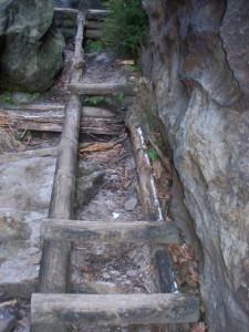 verfallen Stufen im unteren Teil