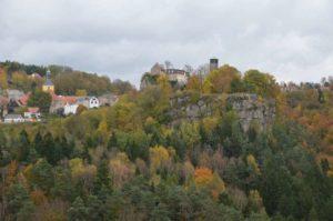 Blick vom Hockstein nach Hohnstein