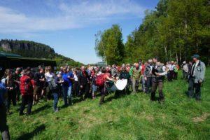 Gruppenbild am Pfaffenstein