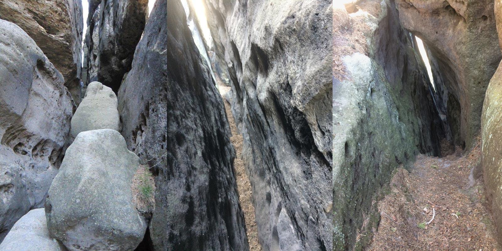 lang, eng, dunkel - der Weg zum Gipfel